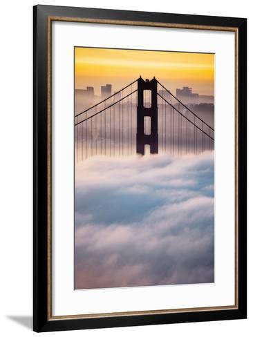Morning Sunrise Fog, Beautiful Golden Gate Bridge, San Francisco Cityscape-Vincent James-Framed Art Print