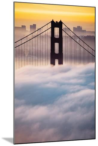 Morning Sunrise Fog, Beautiful Golden Gate Bridge, San Francisco Cityscape-Vincent James-Mounted Photographic Print
