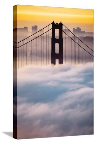 Morning Sunrise Fog, Beautiful Golden Gate Bridge, San Francisco Cityscape-Vincent James-Stretched Canvas Print