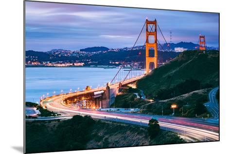 Before Sunrise On Approach North Side, Beautiful Golden Gate Bridge, San Francisco Cityscape-Vincent James-Mounted Photographic Print