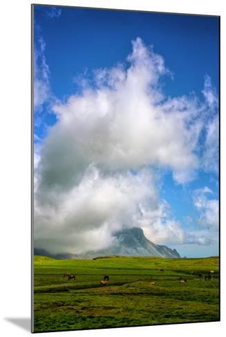 Amazing Clouds at Stokknes, Vestrahorn Iceland Coast-Vincent James-Mounted Photographic Print