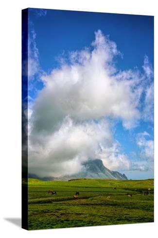 Amazing Clouds at Stokknes, Vestrahorn Iceland Coast-Vincent James-Stretched Canvas Print