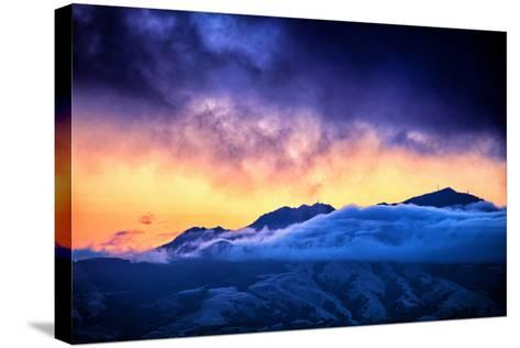 Moody Light Storm, Mount Diablo, Easy Bay, Oakland California-Vincent James-Stretched Canvas Print
