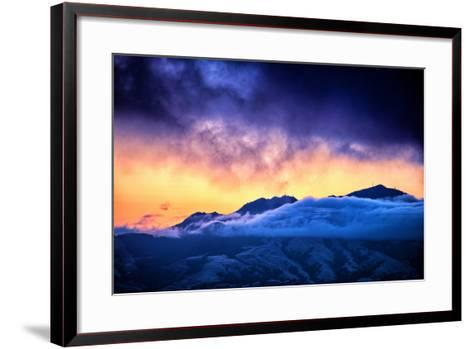 Moody Light Storm, Mount Diablo, Easy Bay, Oakland California-Vincent James-Framed Art Print