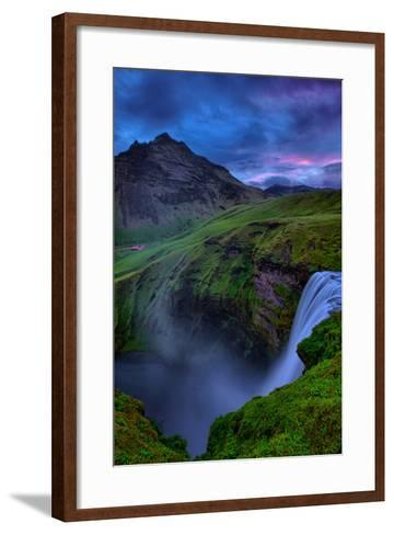 Mystery and Mood at Skógafoss, Waterfall Iceland-Vincent James-Framed Art Print