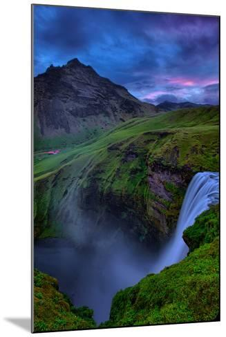 Mystery and Mood at Skógafoss, Waterfall Iceland-Vincent James-Mounted Photographic Print