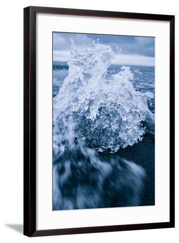 Ice Splash, Jökulsárlón Glacier Lagoon, Southern Iceland-Vincent James-Framed Art Print