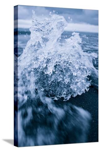 Ice Splash, Jökulsárlón Glacier Lagoon, Southern Iceland-Vincent James-Stretched Canvas Print
