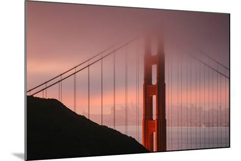 Misty Golden Gate Tower, San Francisco California-Vincent James-Mounted Photographic Print