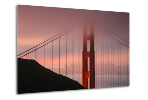 Misty Golden Gate Tower, San Francisco California-Vincent James-Metal Print