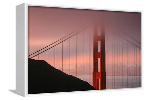 Misty Golden Gate Tower, San Francisco California-Vincent James-Framed Canvas Print