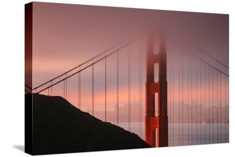 Misty Golden Gate Tower, San Francisco California-Vincent James-Stretched Canvas Print