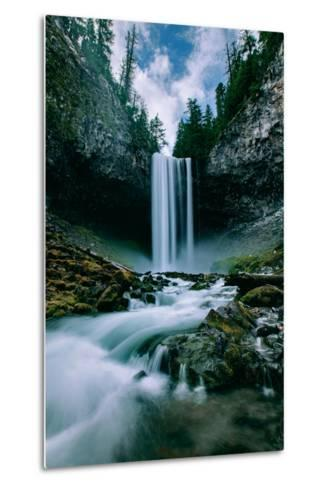 Amazing Mount Hood Waterfall, Tamanawas Falls, National Forest Oregon-Vincent James-Metal Print