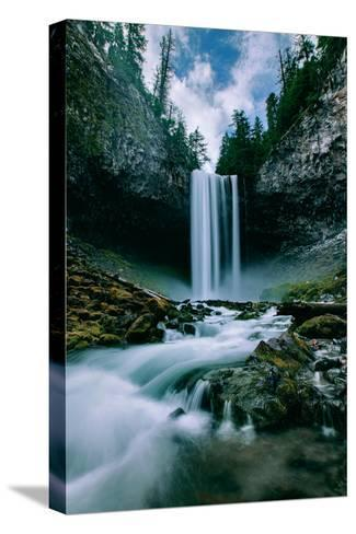 Amazing Mount Hood Waterfall, Tamanawas Falls, National Forest Oregon-Vincent James-Stretched Canvas Print