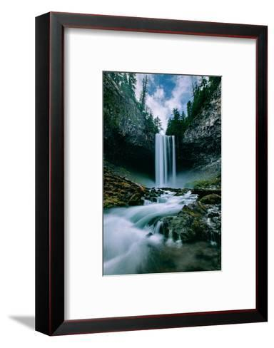 Amazing Mount Hood Waterfall, Tamanawas Falls, National Forest Oregon-Vincent James-Framed Art Print