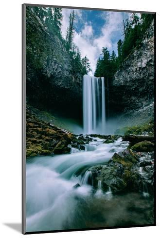 Amazing Mount Hood Waterfall, Tamanawas Falls, National Forest Oregon-Vincent James-Mounted Photographic Print