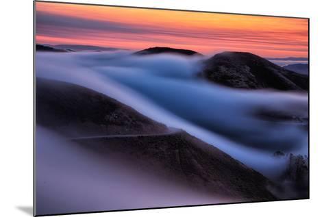 Dreamy Fog Sweep, Marin Headlands at Sunrise, San Francisco-Vincent James-Mounted Photographic Print