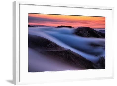 Dreamy Fog Sweep, Marin Headlands at Sunrise, San Francisco-Vincent James-Framed Art Print