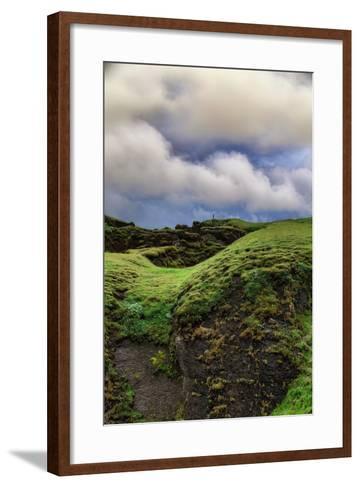 Canyon Walk, Fjaðrárgljúfur Southern Iceland Summer-Vincent James-Framed Art Print