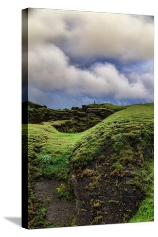 Canyon Walk, Fjaðrárgljúfur Southern Iceland Summer-Vincent James-Stretched Canvas Print