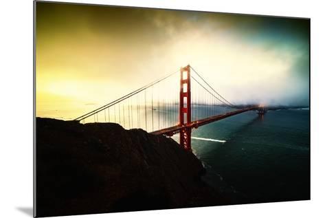 Stormy Sunday, Golden Gate Bridge, San Francisco-Vincent James-Mounted Photographic Print