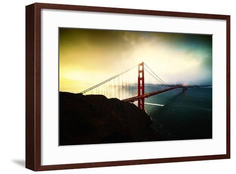 Stormy Sunday, Golden Gate Bridge, San Francisco-Vincent James-Framed Art Print
