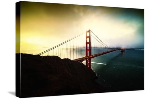 Stormy Sunday, Golden Gate Bridge, San Francisco-Vincent James-Stretched Canvas Print