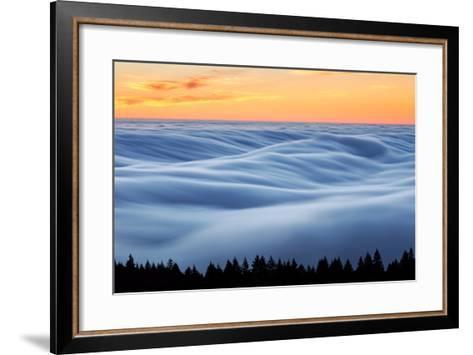 Fog Stream at Sunset, Mount Tam, Pacific Ocaen, San Francisco-Vincent James-Framed Art Print