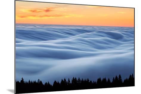 Fog Stream at Sunset, Mount Tam, Pacific Ocaen, San Francisco-Vincent James-Mounted Photographic Print