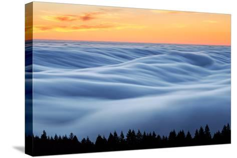 Fog Stream at Sunset, Mount Tam, Pacific Ocaen, San Francisco-Vincent James-Stretched Canvas Print
