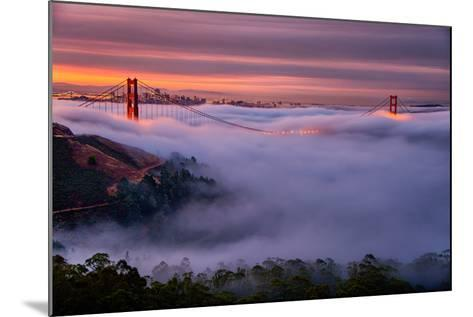 Living in this Dream of Fog and Light, Golden Gate Bridge, San Francisco-Vincent James-Mounted Photographic Print