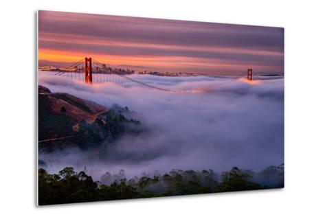 Living in this Dream of Fog and Light, Golden Gate Bridge, San Francisco-Vincent James-Metal Print