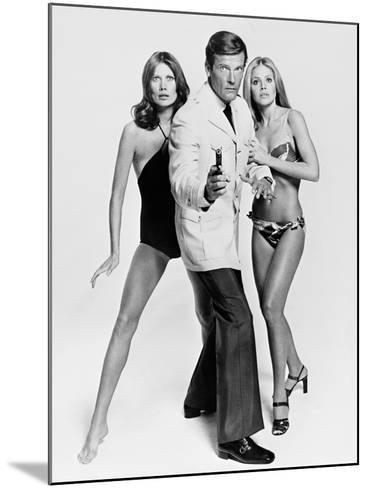 Roger Moore, Britt Ekland, Maud Adams, The 007, James Bond: Man with the Golden Gun,1974--Mounted Photographic Print