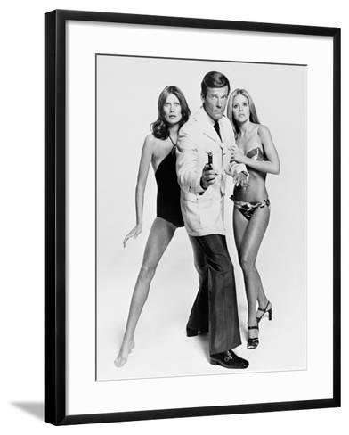 Roger Moore, Britt Ekland, Maud Adams, The 007, James Bond: Man with the Golden Gun,1974--Framed Art Print