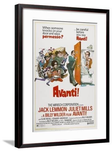 Avanti!, 1972--Framed Art Print