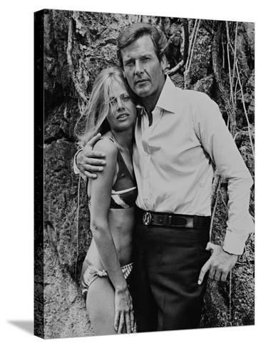 Roger Moore, Britt Ekland, The 007, James Bond: Man with the Golden Gun,1974--Stretched Canvas Print