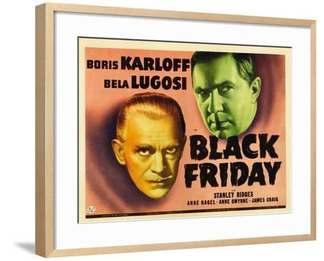 Bela Lugosi, Black Friday, 1940--Framed Art Print