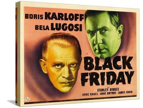 Bela Lugosi, Black Friday, 1940--Stretched Canvas Print
