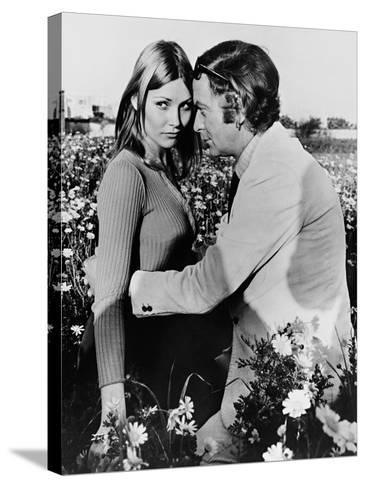 Michael Caine, Janet Agren, Pulp, 1972--Stretched Canvas Print