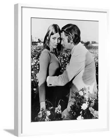 Michael Caine, Janet Agren, Pulp, 1972--Framed Art Print