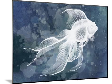 Indigo Fish II-Grace Popp-Mounted Art Print