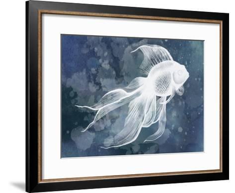 Indigo Fish II-Grace Popp-Framed Art Print