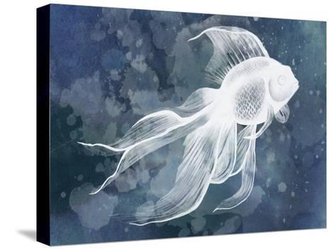 Indigo Fish II-Grace Popp-Stretched Canvas Print
