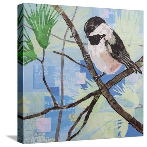 Chickadee Collage II-Alyson Champ-Stretched Canvas Print