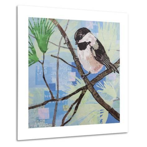 Chickadee Collage II-Alyson Champ-Metal Print