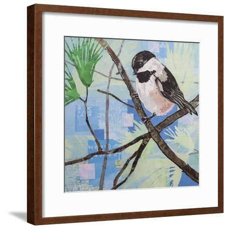 Chickadee Collage II-Alyson Champ-Framed Art Print