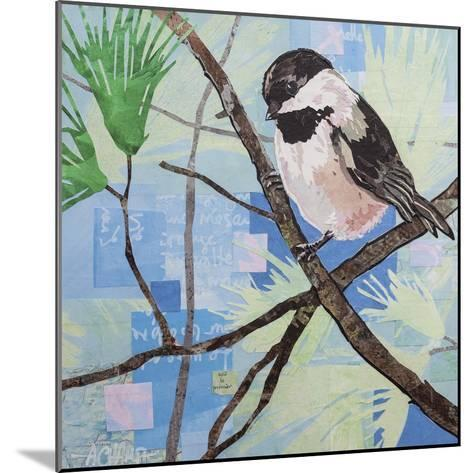 Chickadee Collage II-Alyson Champ-Mounted Art Print