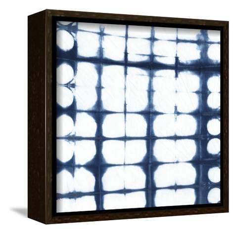 Indigo Tiles IX-Chariklia Zarris-Framed Canvas Print