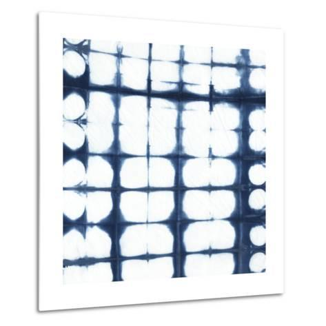 Indigo Tiles IX-Chariklia Zarris-Metal Print
