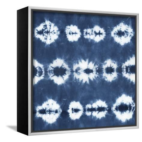 Indigo Tiles III-Chariklia Zarris-Framed Canvas Print